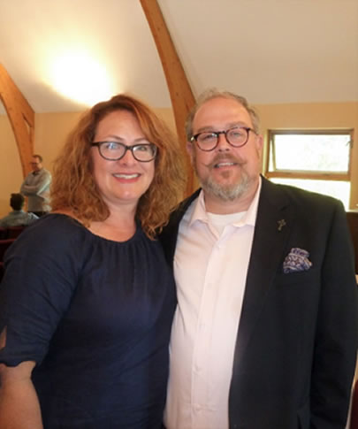 Guest speaker July 2017 – Pastor Kevin Rogers, visiting BPC from Redeemer Church in Moncton. Shown here with his wife Jessica.